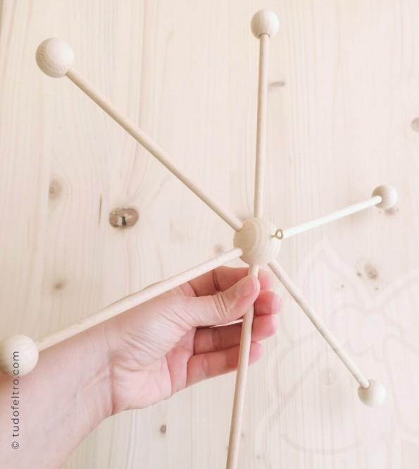 Wood Mobile | Star - 33 cm