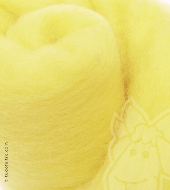 New Zealand Carded Merino Wool (batts) - LEMON