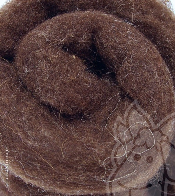 Natural Carded Wool (batts) - PT BROWN