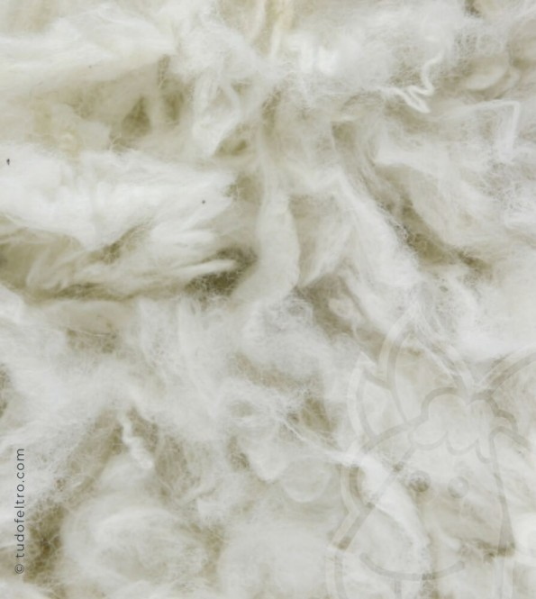 Washed Wool Locks - Raw White