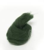 Australian Merino Wool Tops (combed sliver) - DARK GREEN