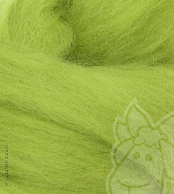 Australian Merino Wool Tops (combed sliver) - GREEN LEMON
