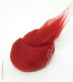 Australian Merino Wool Tops (combed sliver) - RED