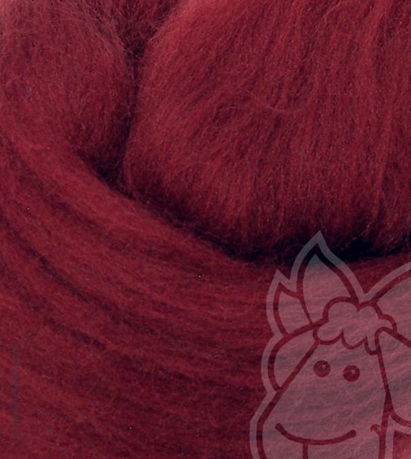 Australian Merino Wool Tops (combed sliver) - BORDEAUX