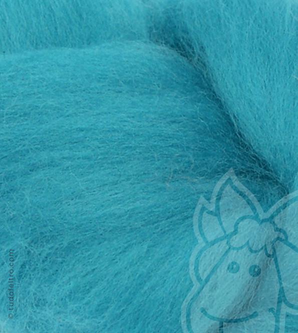 Australian Merino Wool Tops (combed sliver) - TURQUOISE