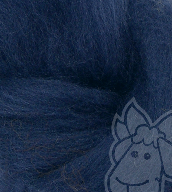 Australian Merino Wool Tops (combed sliver) - ROYAL BLUE