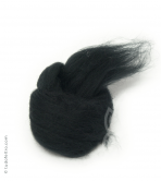 Australian Merino Wool Tops (combed sliver) - BLACK
