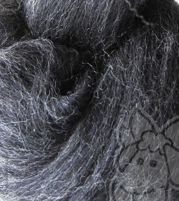 Australian Merino Wool Tops (combed sliver) - ANTRHRACITE