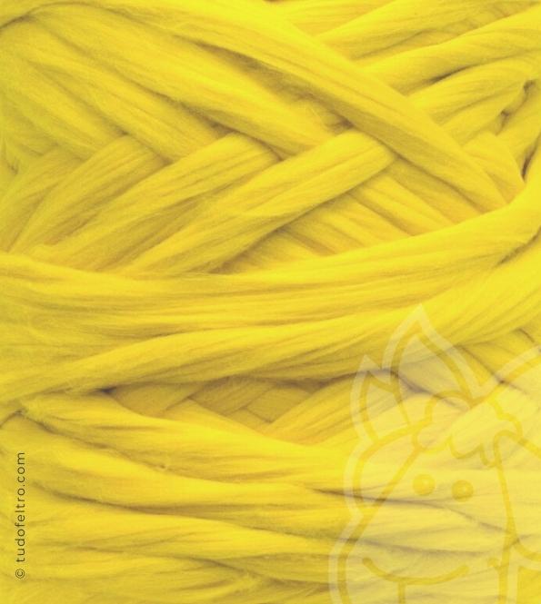 European Merino Wool Tops (combed sliver) - LEMON