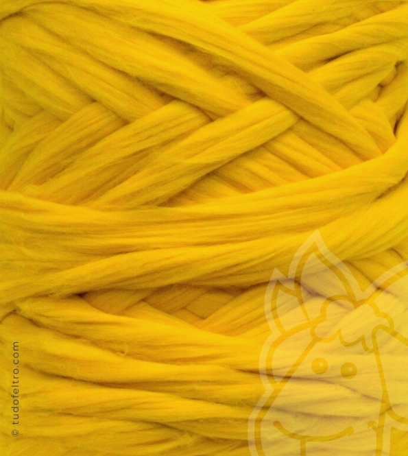 South America Merino Wool Tops (combed sliver) - YELLOW