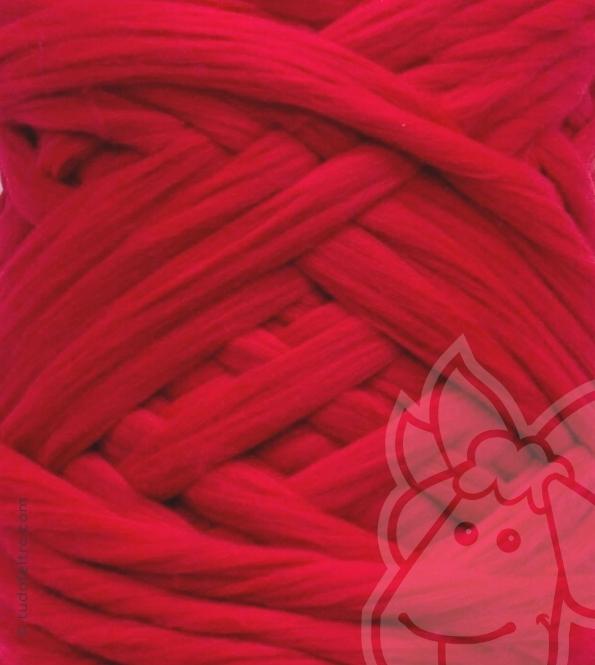 European Merino Wool Tops (combed sliver) - CARMINE