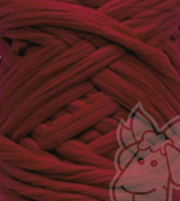 European Merino Wool Tops (combed sliver) - DARK RED