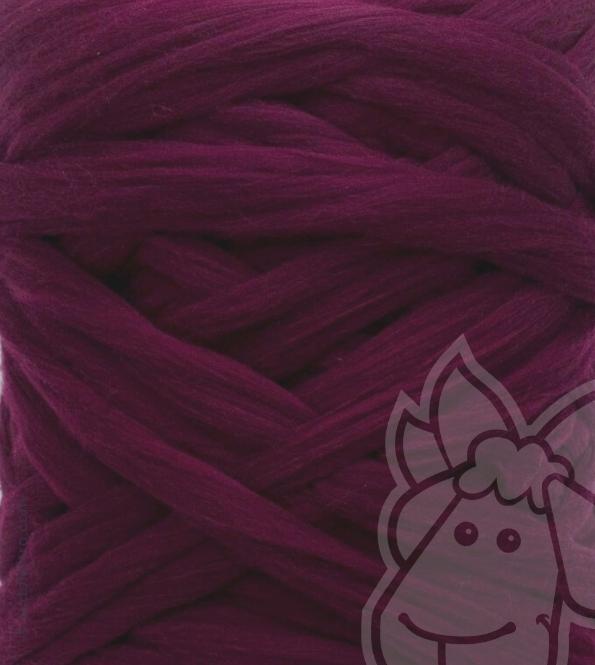 European Merino Wool Tops (combed sliver) - BORDEAUX