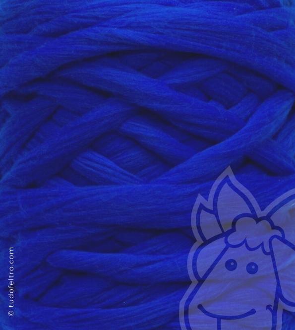 European Merino Wool Tops (combed sliver) - ROYAL BLUE