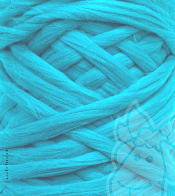 European Merino Wool Tops (combed sliver) - TURQUOISE