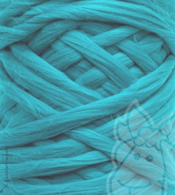 European Merino Wool Tops (combed sliver) - DARK TURQUOISE