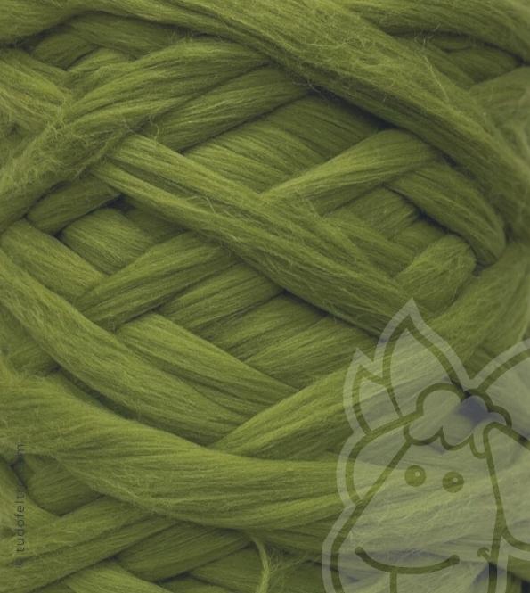 European Merino Wool Tops (combed sliver) - GREEN SWAMP