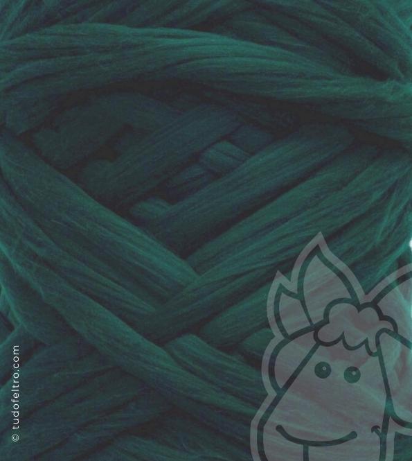 European Merino Wool Tops (combed sliver) - DARK GREEN