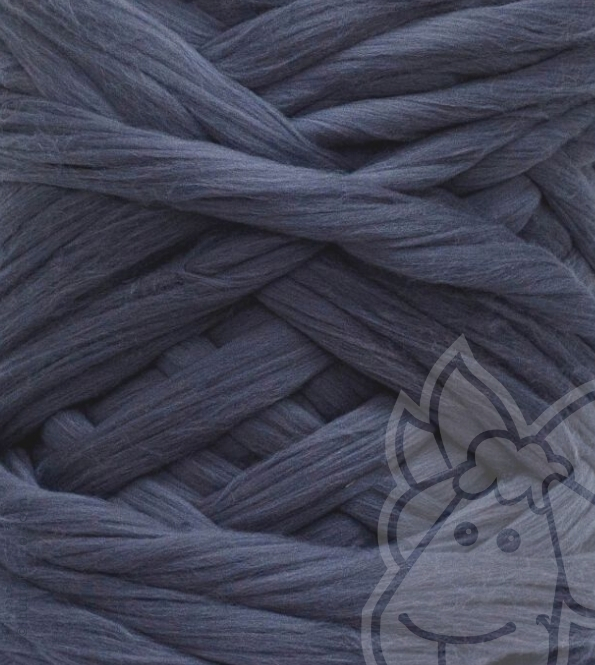 European Merino Wool Tops (combed sliver) - GRAPHITE