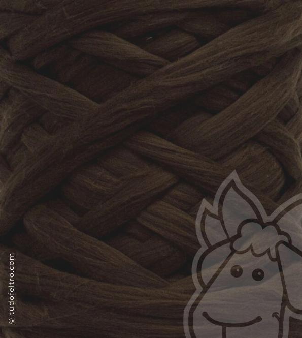 European Merino Wool Tops (combed sliver) - DARK BROWN