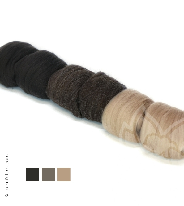 Brwons Mix - Wool Packs (Tops Sliver)