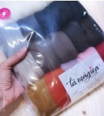 Just Animals - Wool Packs (Tops Sliver)   200 g